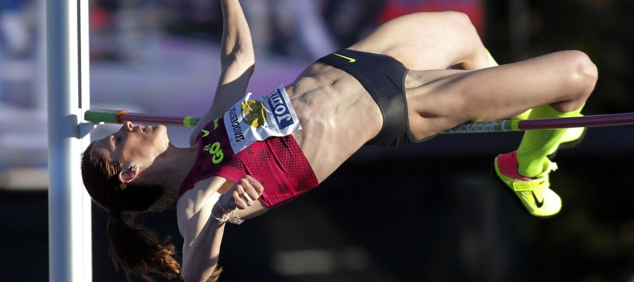 GRA153. GIJÓN, 24/07/2016.- Ruth Beitia, triple campeona de Europa de altura, ha conseguido en Gijón, con un salto de 1,90, su duodécimo título al aire libre y el número 27 de su carrera, contados los 15 que tiene pista cubierta, a dos semanas de luchar por su primera medalla olímpica en los Juegos de Río. EFE/Alberto Morante