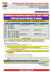 XXIII Liga Escolar de Menores - 4ª Jornada / Campeonato de Cantabria Escolar de Fondo en Pista @ Los Corrales de Buelna | Cantabria | España