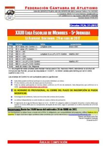 XXIII Liga Escolar de Menores - 5ª Jornada @ Santander | Cantabria | España