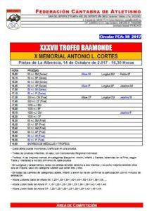 XXXVII Trofeo Baamonde - X Memorial Antonio López Cortés / Campeonato de Cantabria Infantil de 80 metros, Altura y Jabalina @ Santander | Cantabria | España