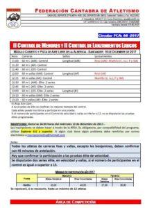 II Control de Invierno de Menores FCA / II Control de Invierno de Lanzamientos Largos FCA @ Santander | Cantabria | España