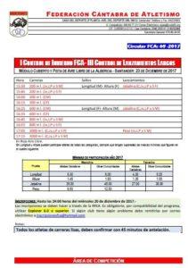I Control de Invierno FCA / III Control de Invierno de Lanzamientos Largos FCA @ Santander | Cantabria | España