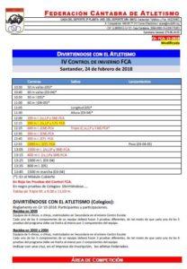IX Campeonato Divirtiéndose con el Atletismo - Fase Regional / IV Control de Invierno FCA @ Santander | Cantabria | España