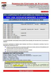 XXV Campeonato de Cantabria de Fondo en Pista / XXIV Liga Escolar de Menores - 3ª Jornada @ A designar | Los Corrales de Buelna | Cantabria | España