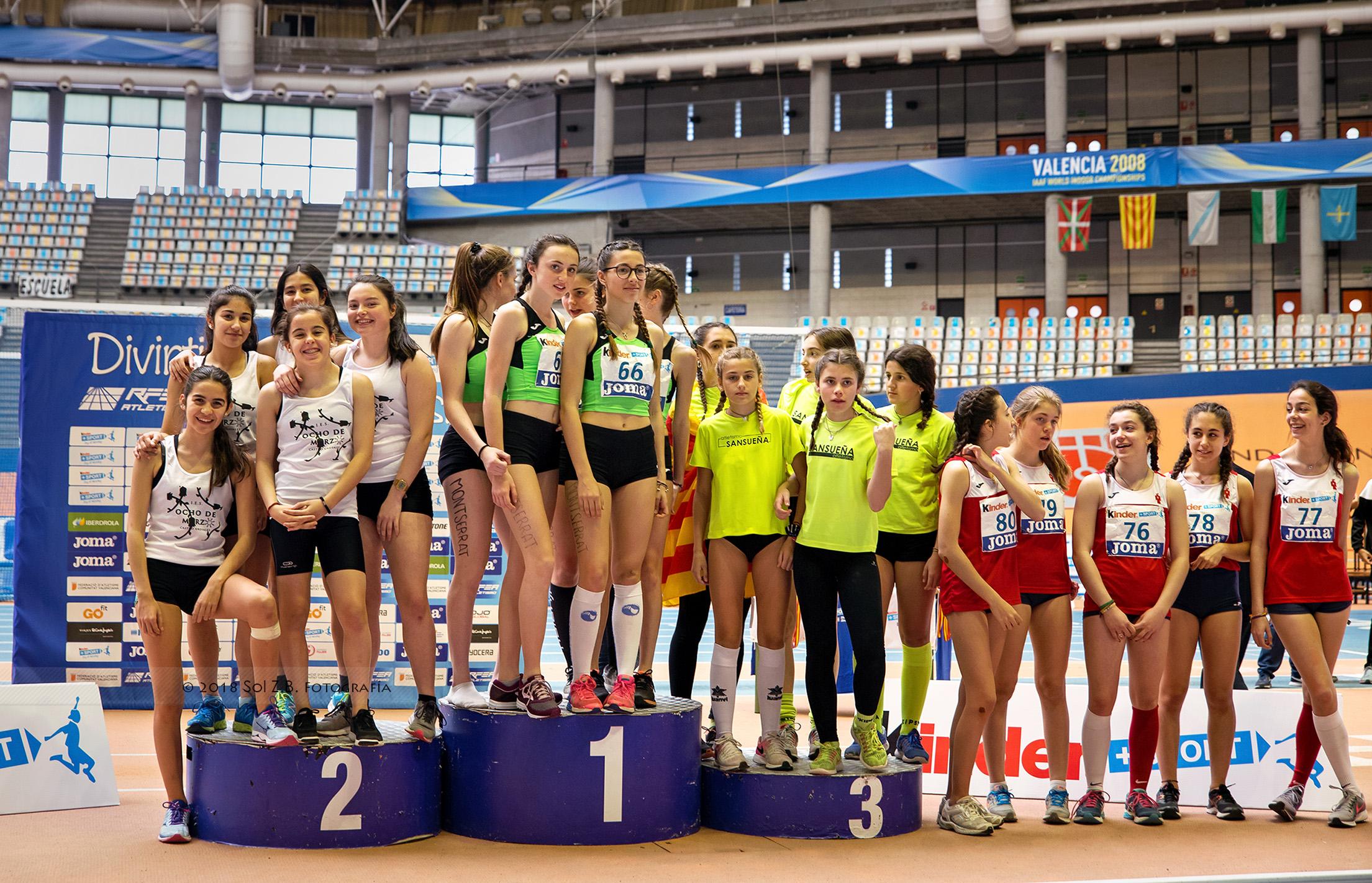 z 15-04-2018 podium chicas Valencia 2018 srbf