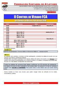 II Control de Verano FCA @ Los Corrales de Buelna | Cantabria | España