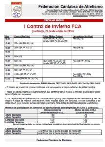 I Control de Invierno FCA @ Santander, Cantabria