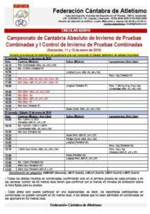 Campeonato de Cantabria Absoluto y I Control de Invierno de Pruebas Combinadas @ Santander, Cantabria