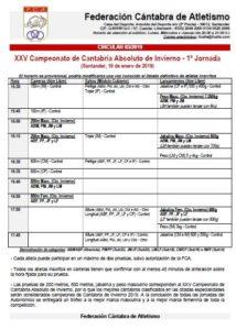XXV Campeonato de Cantabria Absoluto de Invierno - 1ª Jornada @ Santander, Cantabria