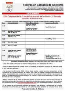 XXV Campeonato de Cantabria Absoluto de Invierno - 2ª Jornada @ Santander, Cantabria