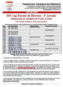XXV Liga Escolar de Menores - 3ª Jornada / Campeonato de Cantabria de Fondo en Pista @ Los Corrales de Buelna