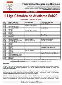 II Liga Cántabra de Atletismo Sub20 @ Santander, Cantabria