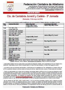 Campeonato de Cantabria Juvenil y Cadete - 3ª Jornada @ Santander, Cantabria