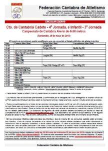 Campeonato de Cantabria Cadete - 4ª Jornada, e Infantil (3ª Jornada) / Campeonato de Cantabria Alevín de 4x60 metros @ Santander, Cantabria