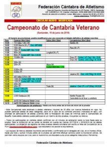 Campeonato de Cantabria Veterano @ Santander, Cantabria