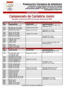 Campeonato de Cantabria Júnior - 2ª Jornada @ Los Corrales de Buelna, Cantabria