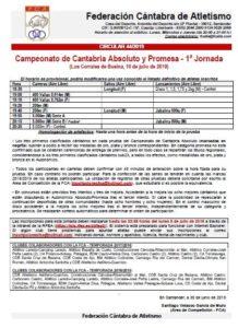 Campeonato de Cantabria Absoluto y Promesa - 1ª Jornada @ Los Corrales de Buelna
