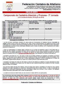 Campeonato de Cantabria Absoluto y Promesa - 3ª Jornada @ Los Corrales de Buelna