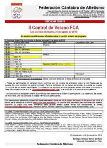 II Control de Verano FCA @ Los Corrales de Buelna
