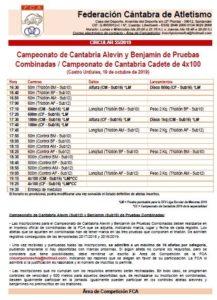 Campeonato de Cantabria Alevín y Benjamín de Pruebas Combinadas / Campeonato de Cantabria Cadete de 4x100 metros @ Estadio Riomar, Castro Urdiales
