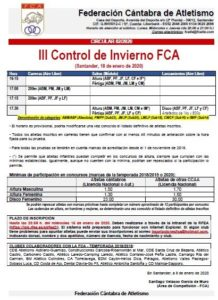 III Control de Invierno FCA @ Santander, Cantabria