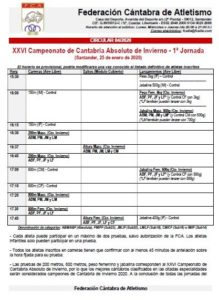 XXVI Campeonato de Cantabria de Invierno - 1ª Jornada @ Santander, Cantabria
