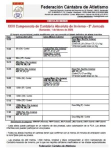 XXVI Campeonato de Cantabria Absoluto de Invierno - 3ª Jornada @ Santander, Cantabria