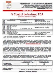 IV Control de Invierno FCA @ Santander, Cantabria