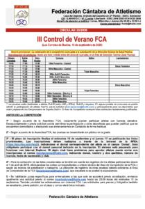 III Control de Verano FCA