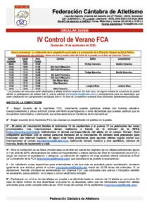 IV Control de Verano FCA @ Santander