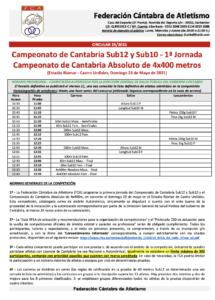 Campeonato de Cantabria Sub12 y Sub10 - 1ª Jornada / Campeonato de Cantabria Absoluto de 4x400 metros @ Castro Urdiales