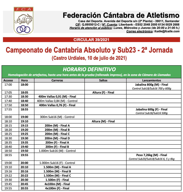 Campeonato de Cantabria Absoluto y Sub23 - 2ª Jornada @ Estadio Riomar