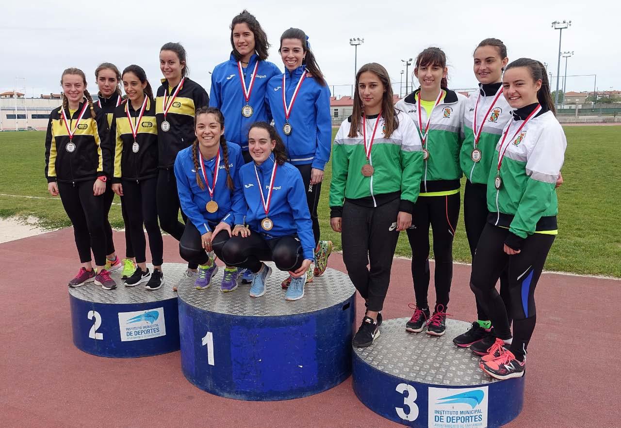 1-5 podium 4x100 Fem
