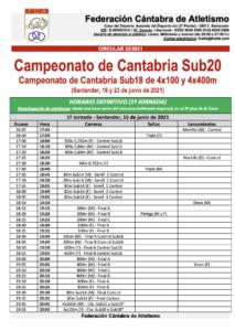 Campeonato de Cantabria Sub20 - 1ª Jornada @ Complejo Deportivo Ruth Beitia