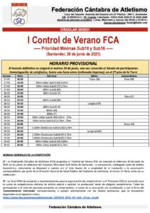 I Control de Verano FCA @ Complejo Deportivo Ruth Beitia