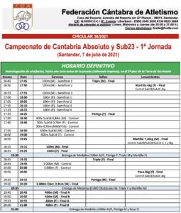 Campeonato de Cantabria Absoluto y Sub23 - 1ª Jornada @ Complejo Deportivo Ruth Beitia