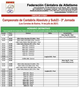 Campeonato de Cantabria Absoluto y Sub23 - 3ª Jornada @ Complejo Deportivo Luis Andrés Samperio